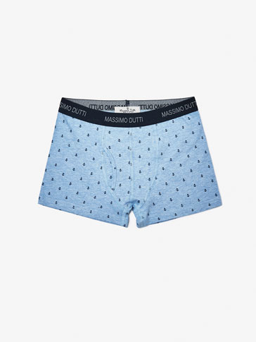 BOXER SHORTS WITH ANCHORS DETAIL
