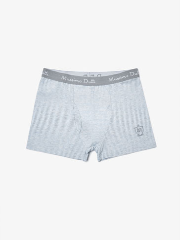 BOXER SHORTS WITH BLUE STRIPES DETAIL