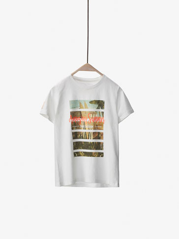 T-SHIRT WITH AMAZING SUMMER DETAIL