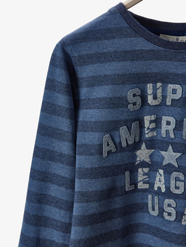 CAMISETA RAYAS DETALLE AMERICAN LEAGUE