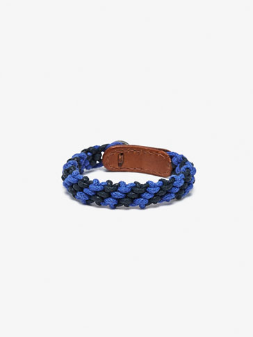 PLAITED BRACELET WITH TWO-TONE CORD