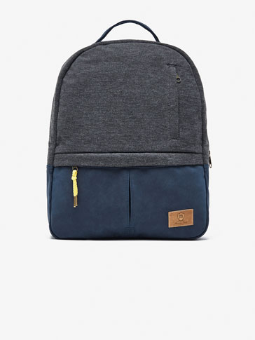 GREY/NAVY BLUE CONTRAST BACKPACK