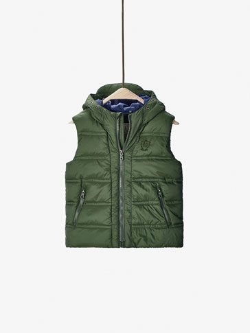 GREEN QUILTED GILET