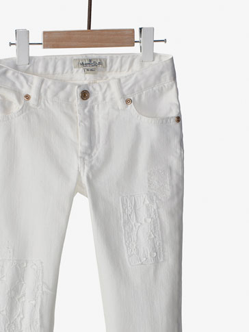 PANTALONE TIPO JEANS BIANCO SKINNY FIT