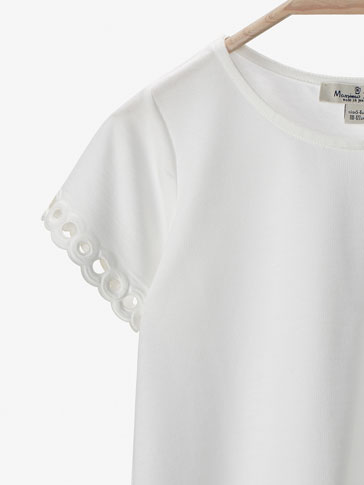 T-SHIRT WITH CUTWORK DETAIL