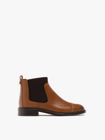 LEATHER CHELSEA BOOTS WITH STUDS