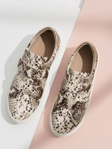 ANIMAL PRINT LEATHER SNEAKERS