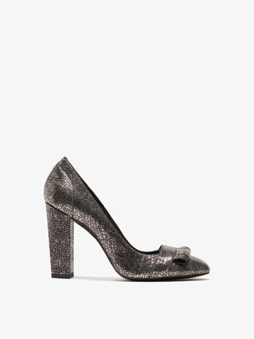CRACKLED LEATHER HIGH HEEL SHOES