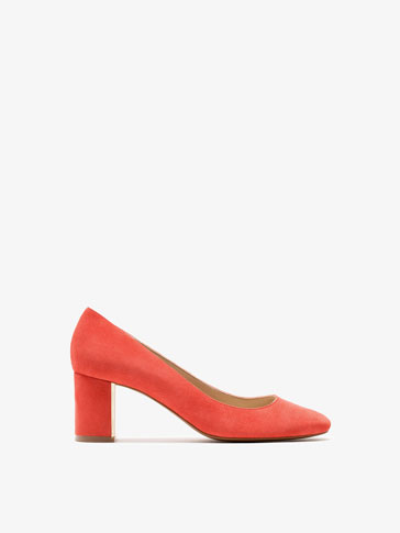 CORAL SUEDE HIGH-HEEL SHOES