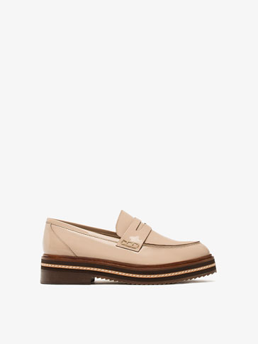 PATENT FINISH PLATFORM LOAFERS