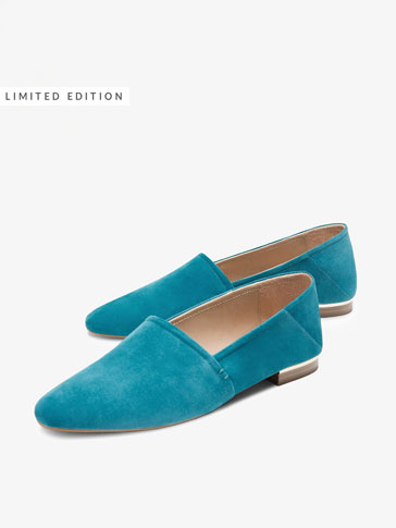 TURQUOISE SUEDE LEATHER BABOUCHES
