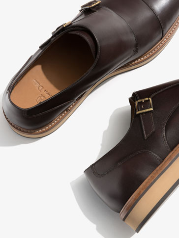 WEDGE MONK SHOES