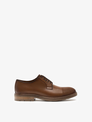 OPENWORK LEATHER BLUCHERS