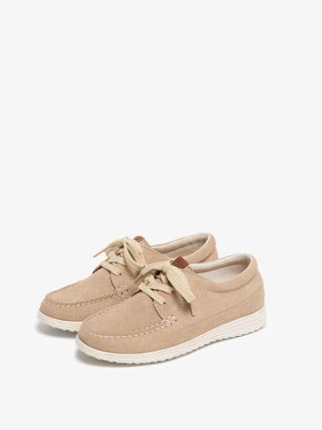 SAND SPLIT SUEDE DECK SHOES