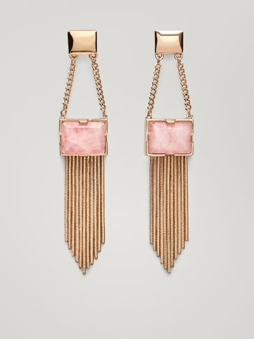 EARRINGS WITH QUARTZ DETAIL