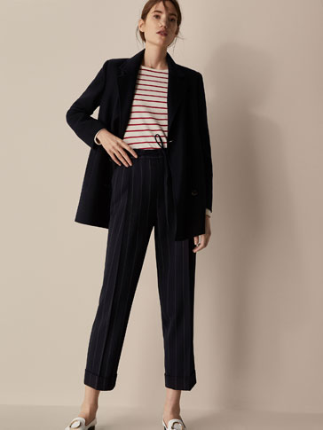 PINSTRIPED JOGGING TROUSERS