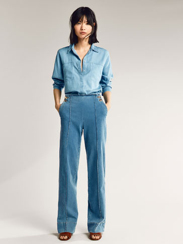 JEAN DOUBLE BOUTONNAGE FLARE FIT