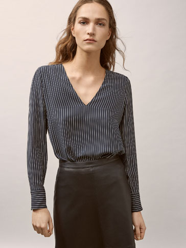PINSTRIPED BLOUSE