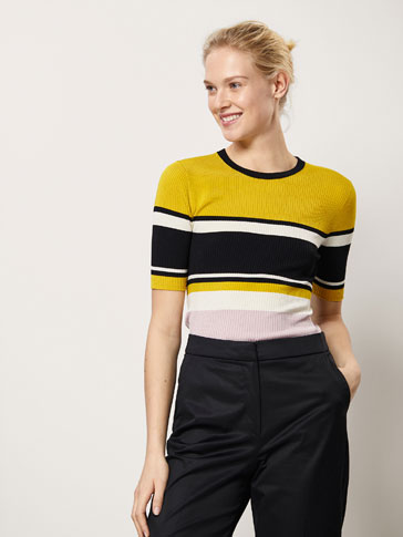 LIMITED EDITION STRIPED RIBBED SWEATER