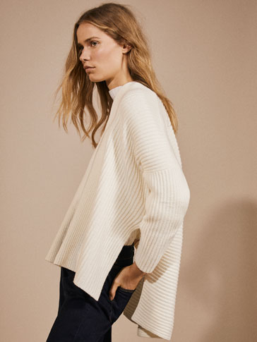 WOOL CAPE-STYLE CARDIGAN