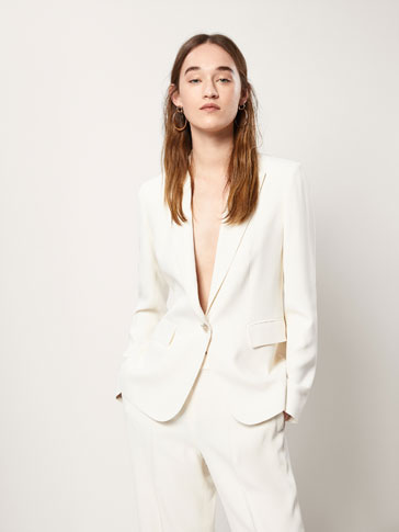 SLIM FIT CREPE SUIT BLAZER