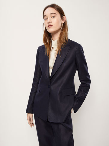 SLIM FIT LINEN SUIT BLAZER