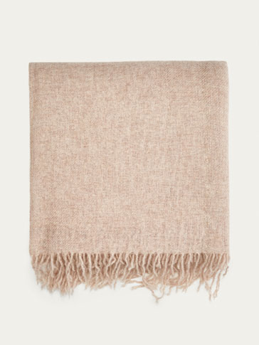 100% CASHMERE SCARF WITH SHIMMER DETAIL
