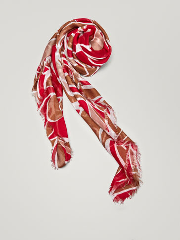 ABSTRACT PRINT WOOL FOULARD