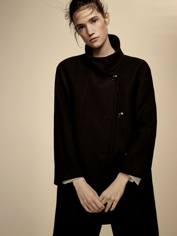 WOOL COAT WITH STRAP DETAIL