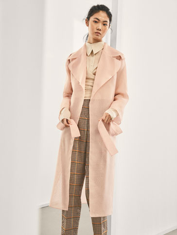 LIMITED EDITION SILK TRENCHCOAT WITH TIE DETAIL
