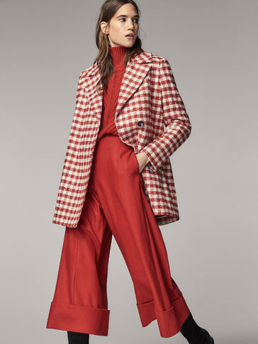 EMBELLISHED CHECKED COAT