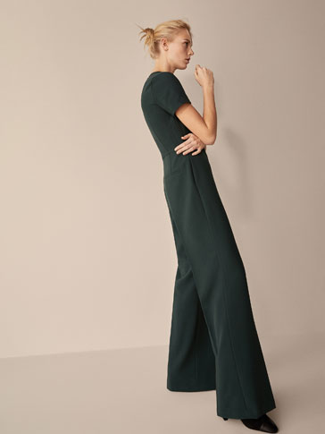 JUMPSUIT WITH LACE TRIM DETAIL