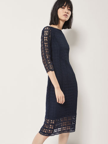 GEOMETRIC GUIPURE DRESS