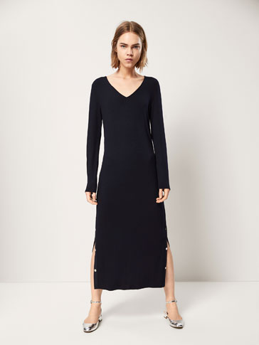 H and m plain black dress