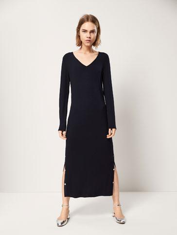 H and m plain black dress