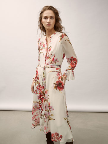 GEORGETTE DRESS WITH FLORAL PRINT