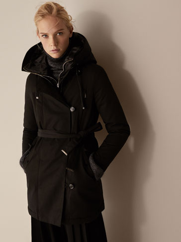 DOWN PARKA WITH REMOVABLE LINING