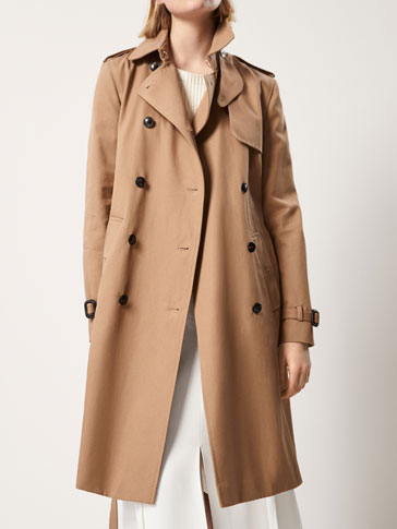 CLASSIC CAMEL TRENCH COAT