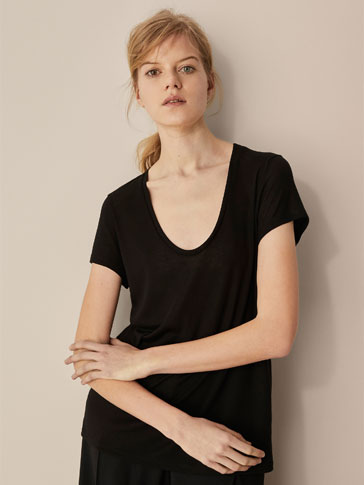 PLAIN LYOCELL T-SHIRT