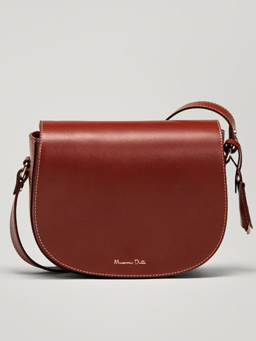 PLAIN LEATHER CROSSBODY BAG
