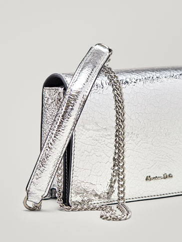 METALLIC LEATHER HAND BAG