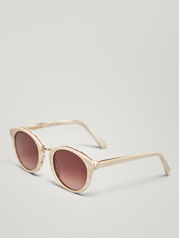 ROUND SUNGLASSES WITH EMBELLISHED DETAIL