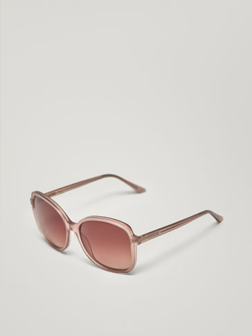 PINK SQUARE SUNGLASSES