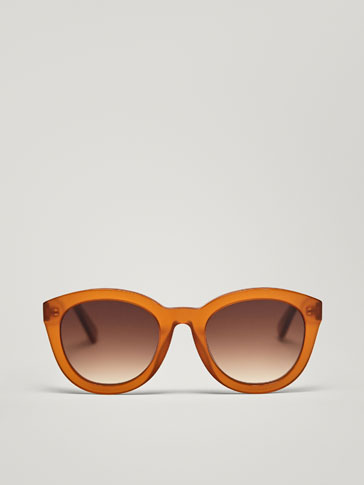 LARGE BROWN SUNGLASSES