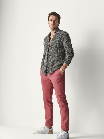 PANTALONI CHINO TRICOT SLIM FIT