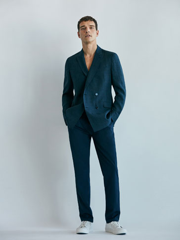 TEXTURED WEAVE TROUSERS SOFT COLLECTION
