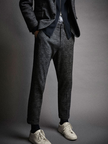 ASIAN FIT CHECKED TROUSERS