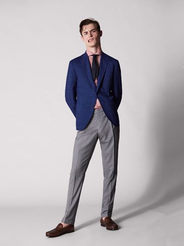 PERSONAL TAILORING SLIM FIT WORSTED WOOL CITY TROUSERS