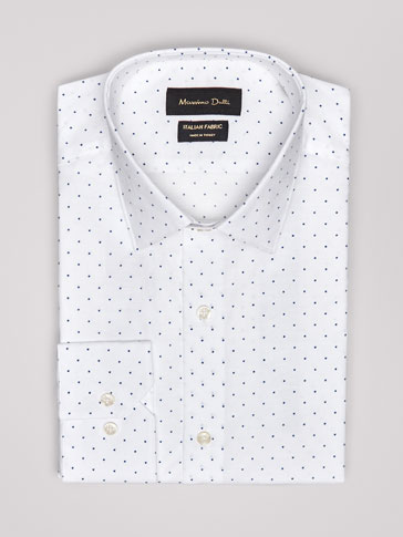 SLIM FIT SHIRT WITH MICRO PRINT