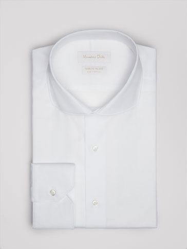 SLIM-FIT SHIRT WITH MICRO TEXTURED WEAVE